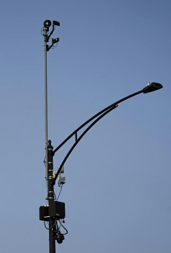 equipment overlooks the intersection of South Stony Island Avenue and East 63rd Street in Chicago.jpg