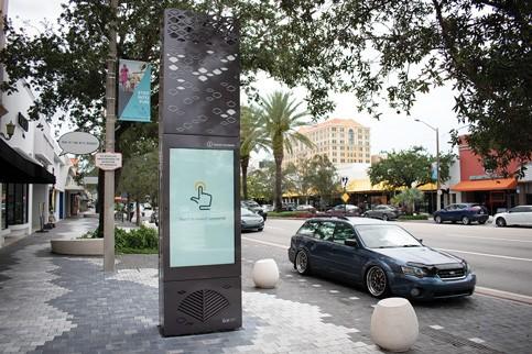 IKE Smart City Kiosk on Miracle Mile