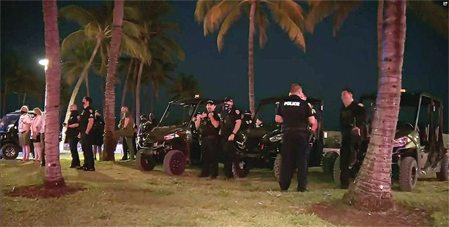 Local10 News  Police departments from three jurisdictions decended on South Beach over the weekend to restore order..jpg