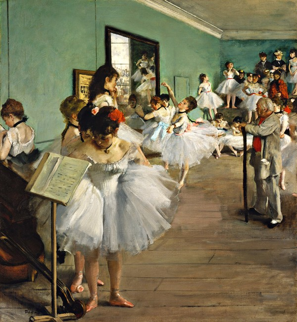 The Dance Class (1874) painting in high resolution by Edgar Dega