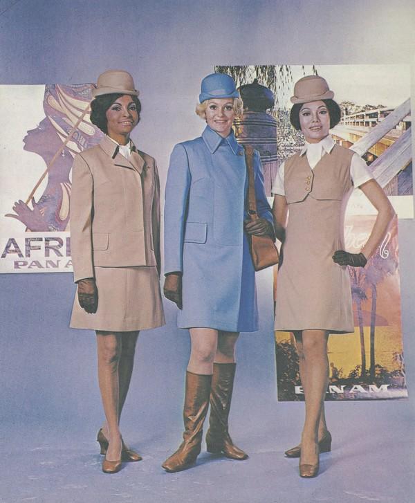 Pan Am Stewardesses modeling new uniforms.jpg